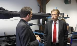 CSE Scientific Director Dr. Christian Hoepfner and Ambassador Ammon tour CSE's labs in Cambridge.