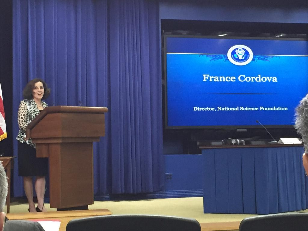 National Science Foundation Director Dr. France Cordova at the White House Smart Cities Kick-Off event. Photo source: @NSF