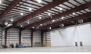 VoltServer and Fraunhofer CSE are piloting Digital Electricity (DE)-integrated LEDs, which can bring the price of LED down by 30%. Photo courtesy of Quonset State Airport, Rhode Island.